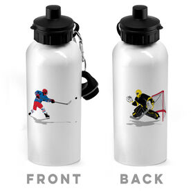 Hockey 20 oz. Stainless Steel Water Bottle - Go For The Goal