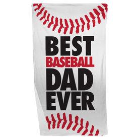 Baseball Beach Towel Best Dad Ever