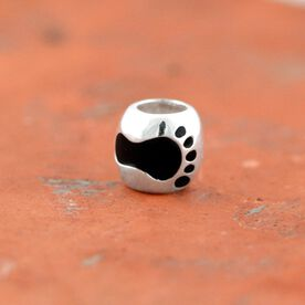 Sterling Silver Barefoot Running Large Hole Bead