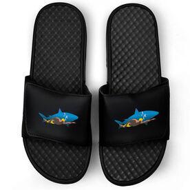 Swimming Black Slide Sandals - Shark Swimmer