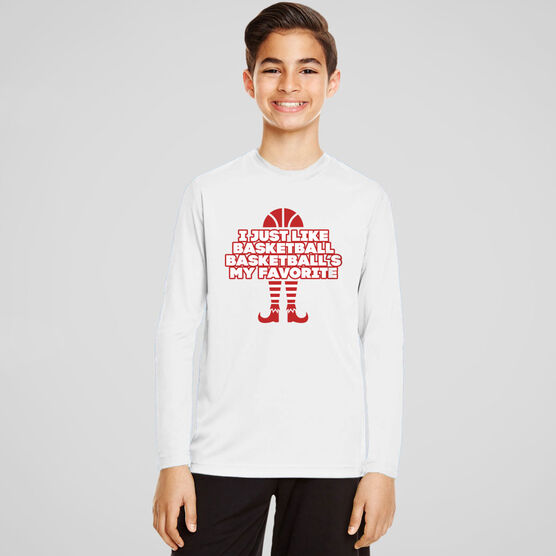 Basketball Long Sleeve Performance Tee - Basketball's My Favorite
