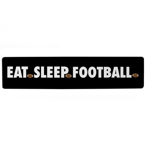"Football Aluminum Room Sign - Eat Sleep Football (4""x18"")"