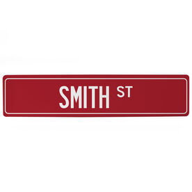 "Personalized Aluminum Room Sign - Custom Name Street (4""x18"")"