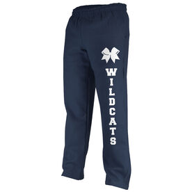 Cheerleading Fleece Sweatpants Team Name With Bow