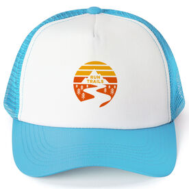 Running Trucker Hat - Run Trails Sunset