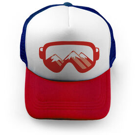 Skiing & Snowboarding Trucker Hat - Goggle Reflection