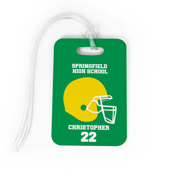 Football Bag/Luggage Tag - Personalized Team Helmet