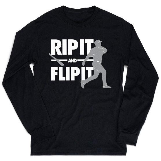Baseball Tshirt Long Sleeve - Rip It Flip It