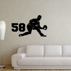 Baseball Fielder Removable ChalkTalkGraphix Wall Decal