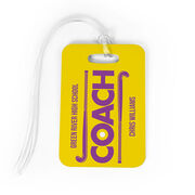 Field Hockey Bag/Luggage Tag - Personalized Coach