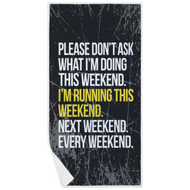 Running Premium Beach Towel - Don't Ask Me