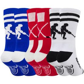 Hockey Woven Mid-Calf Sock Set - Patriotic