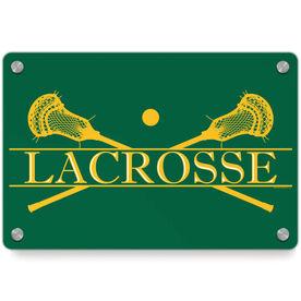 Guys Lacrosse Metal Wall Art Panel - Crest