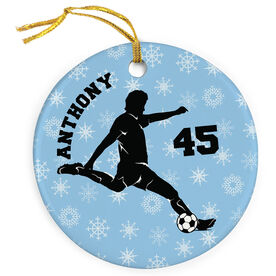 Soccer Porcelain Ornament Personalized Soccer Guy