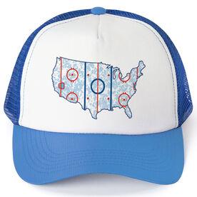 Hockey Trucker Hat - USA Hockey Rink