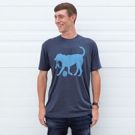 Volleyball Tshirt Short Sleeve Holly The Volleyball Dog