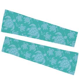 Girls Lacrosse Printed Arm Sleeves - Lacrosse Sea Turtles