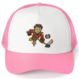 Seams Wild Hockey Trucker Hat - Feather Shot