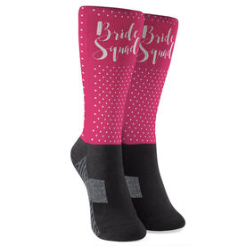 Personalized Printed Mid-Calf Socks - Bride Squad