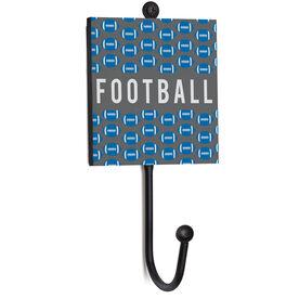 Football Medal Hook - Football Pattern