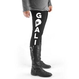 Hockey High Print Leggings - Goalie