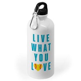 Softball 20 oz. Stainless Steel Water Bottle - Live What You Love