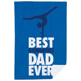 Gymnastics Premium Blanket - Best Dad Ever