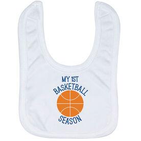 Basketball Baby Bib - My First Basketball Season