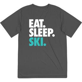 Skiing & Snowboarding Short Sleeve Tech Tee - Eat. Sleep. Ski.