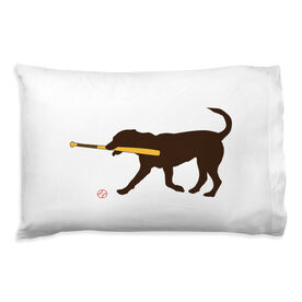Baseball Pillowcase - Buddy The Baseball Dog