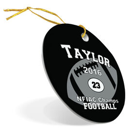 Football Porcelain Ornament Custom Football Team