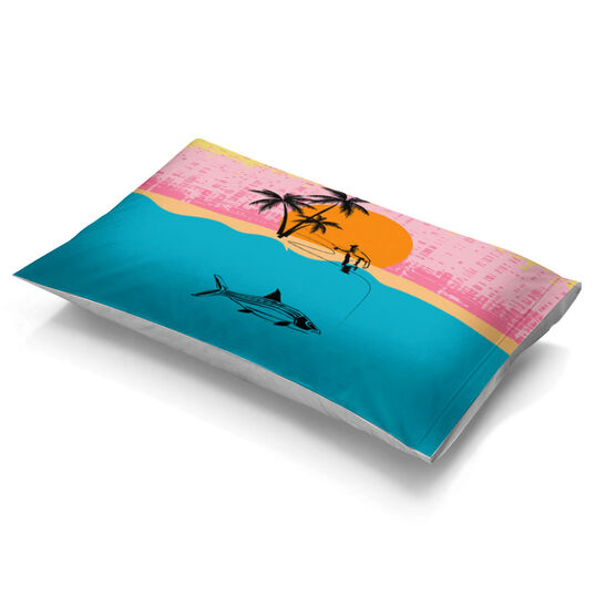Fly Fishing Pillowcase - Gray Ghost of The Flats