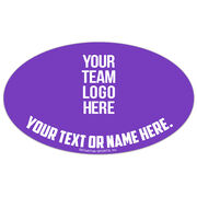 Basketball Oval Car Magnet Your Logo