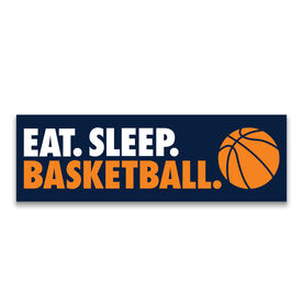"Basketball 12.5"" X 4"" Removable Wall Tile - Eat Sleep Basketball"