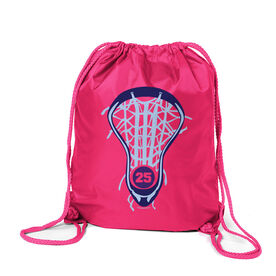 Lacrosse Sport Pack Cinch Sack Lax is Life with Number