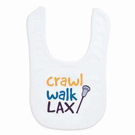 Lacrosse Baby Bib - Crawl Walk Lacrosse