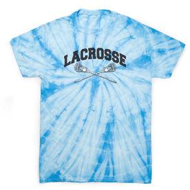 Guys Lacrosse Short Sleeve T-Shirt - Lacrosse Crossed Sticks Tie Dye