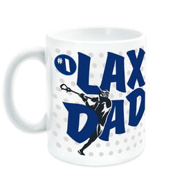 Guys Lacrosse Coffee Mug LAX Dad with Silhouette