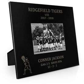Guys Lacrosse Engraved Picture Frame - Goalie Stats