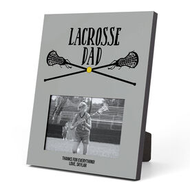 Girls Lacrosse Photo Frame - Lacrosse Dad With Crossed Sticks