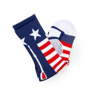 Crew Woven Mid-Calf Socks - Patriotic