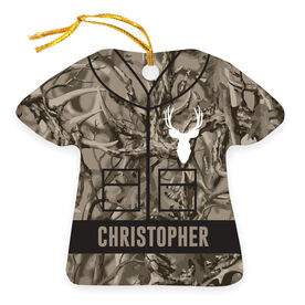 Personalized Ornament - Hunting Camo With Deer