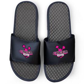 Cheerleading Navy Slide Sandals - Your Logo