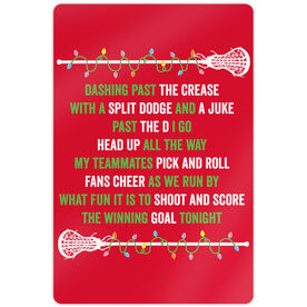 "Girls Lacrosse 18"" X 12"" Aluminum Room Sign Players Jingle All The Way"