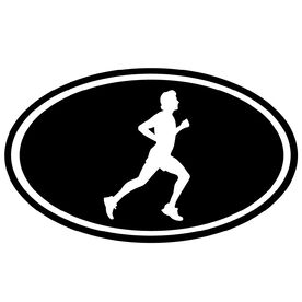 Running Boy Silhouette Vinyl Decal