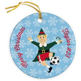 Soccer Porcelain Ornament Elf