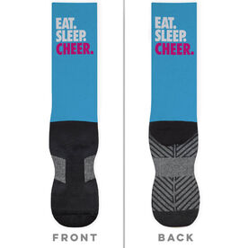 Cheerleading Printed Mid-Calf Socks - Eat Sleep Cheer