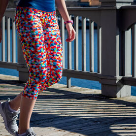 Running Performance Capris - Crazy for Color
