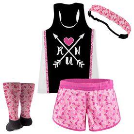Run Arrows Heart Running Outfit