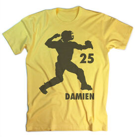 Vintage Baseball T-Shirt - Catcher Silhouette